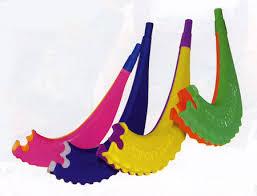 plastic shofar plastic childrens shofar with whistle a bulk pack of shofar rams