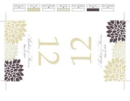 Table Tents Template Diy Table Number Tent Template Ivory Chrysanthemum Cream Mums