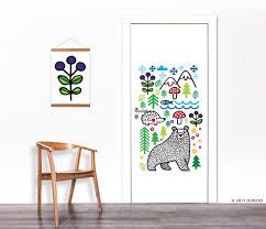 woodland nursery decal nursery wall sticker seasons wild