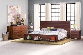 queen platform bed with nightstands home beds decoration