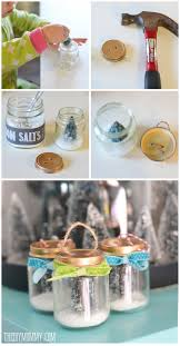 diy ornament a recycled baby food jar tree snow globe