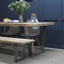 woburn reclaimed wood bench with steel u frame by rust collections