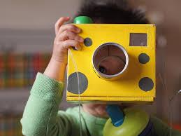 kids u0027 cheesy cardboard camera pink stripey socks