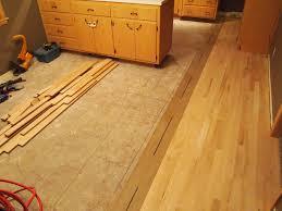 Linoleum Floor Installation Old Linoleum To New Hardwood Natural Accent Hardwood Floors