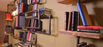 Industrial Pipe Bookcase Smart Space Saving Industrial Shelving Ideas For Your Home