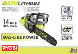black friday deals for ryobi saws at home depot ryobi 14 in 40 volt brushless lithium ion cordless chainsaw 1 5