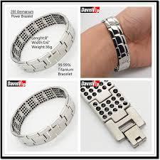 bracelet energy power images New 4in 1 mens stainless steel titanium ion magnetic germanium jpg