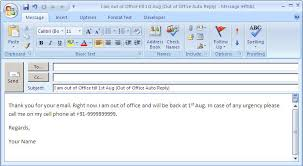 how to set out of office auto reply in microsoft office outlook