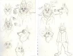 zootopia wolf doodles by 6spiritkings on deviantart