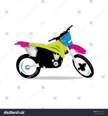 motocross bikes road legal vector motocross bike cartoon illustration motocross stock vector