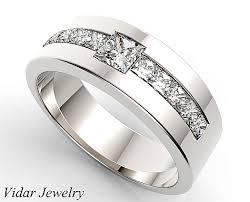 mens princess cut diamonds wedding ring vidar jewelry unique unique princess cut wedding band for s vidar jewelry