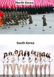 North Korea South Korea Meme - north vs south korea military humor