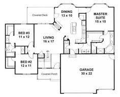 Ranch Home Plans Plan Sc 2700 960 4 Or 5 Bedroom 3 Bath Home With A 3 Car