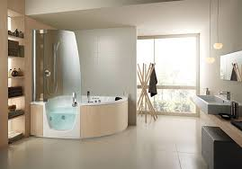 bathroom tub shower ideas of corner whirlpool shower combo by teuco whirlpool