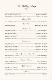 sle of a wedding program wedding program verbiage isure search
