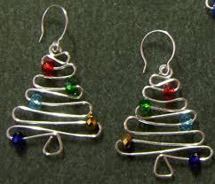 christmas earrings christmas tree earrings jewelrylessons бижу
