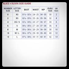 alice olivia alice olivia size chart from e u0027s closet on
