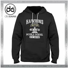 graphic hoodie stranger things hawkins av club jacket