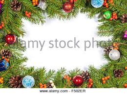 Christmas Decorations On White Background by Christmas Decorations On A White Board With Atmospheric Lighting