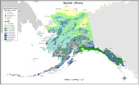 Alaska State Map by Prism Data Nrcs Alaska