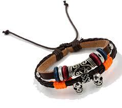 bracelet cuir homme images Bracelet cuir homme double skull bijoux fantaisie gohappy fr png