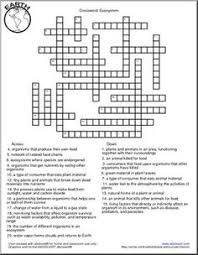 brilliant ideas of ecology crossword puzzle worksheets in format