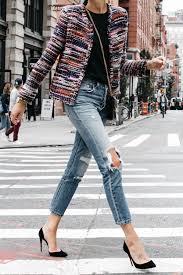 a stylish tweed jacket for fall fashion jackson