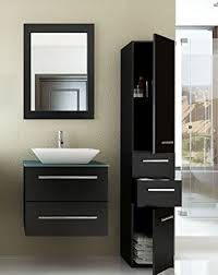 Modern Bathroom Cabinets 24 Inch Single Vessel Sink Wall Mounted Modern Bathroom