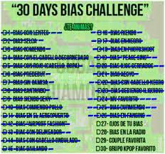 Challenge Explicacion 30 Dias Bias Challenge K Pop Amino