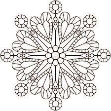 Coloriage Mandala de coeur en Ligne Gratuit à imprimer