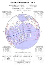 Map Of Southwestern United States by Annular Solar Eclipse 2002 June 10