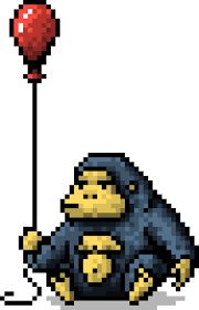 gorilla balloon gorilla holding balloon pixel by obinsun on deviantart