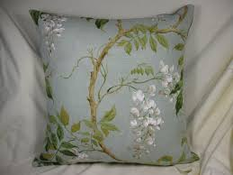 duck egg colefax and fowler alderney linen fabric cushion an