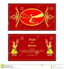 Invitation Card Stock Indian Wedding Invitation Card Stock Vector Image 48582101
