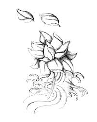Simple Lotus Flower Drawing - simple lotus flower sketch coloring pages batch coloring