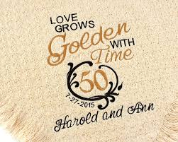 personalized wedding blankets personalized 50th golden wedding anniversary embroidered throws