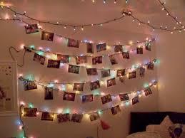 pink christmas lights in bedroom