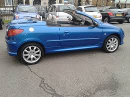 used peugeot 206 cc convertible 1 6 16v allure 2dr in rochester