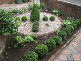 incredible front gardens designs with massive green bush shrub