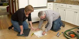 how to cut tile around cabinets how to replace a cracked floor tile this house