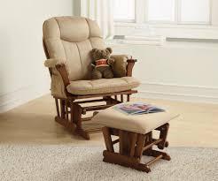 ottoman astonishing teak varnished nursery glider rocking chair