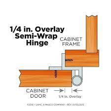 liberty h01911l sn u 1 4 inch semi wrap overlay hinge 2 pack