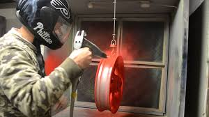 powder coating motorcycle wheels passion red youtube
