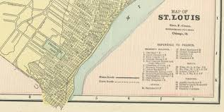 Map Of St Louis Genealogy In St Louis