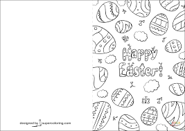 coloring page card coloring pages happy easter 7 page card