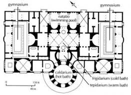baths of caracalla floor plan bigger is better the baths of caracalla and other second and third