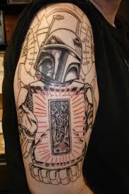 boba fett day of the dead skull nothing sacred tattoos