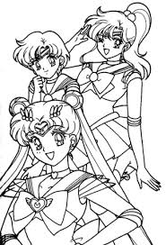 sailor moon girls coloring free printable coloring pages
