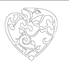 printable design patterns fancy valentines day heart free
