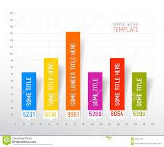 Bar Graph Template Excel Infographic Flat Design Column Graph Chart Template Stock Vector